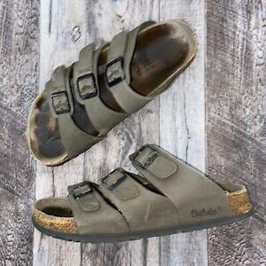 Birkenstock Betula Tan Leather Leo Strappy Sandals Womens Size 8
