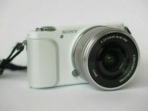 Sony Alpha NEX-3N 16.1MP Digitalkamera Kit mit PZ OSS 16-50mm Objektiv weiss