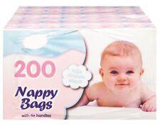 200 Disposable Baby Nappy Bin Bags Sacks Fragranced Scented Perfumed Tie Handles