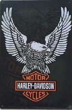 Metal Tin Sign USA Motorcycle Harley-Davidson Wall Decor Poster Garage Bar Motor