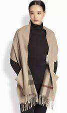 AUTHENTIC BURBERRY LONDON CLASSIC CHECK WOOL/CASHMERE POCKETED SHAWL WRAP CAPE