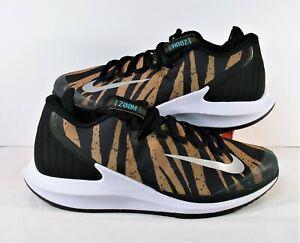 Nike Court Air Zoom Zero HC Safari Tiger Tennis Shoes Sz 10.5 NEW AA8018 702