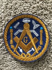 "Masonic Master Mason Sew-on Embroidered Patch 3 1/2"" Round-New"