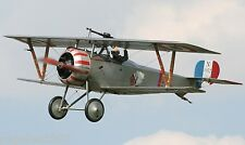 "Model Airplane Plans (FF) : NIEUPORT 17 1/16 Scale 27"" Biplane for .8cc (.049ci)"
