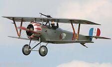 "Model Airplane Plans (FF) : NIEUPORT 17 1/16 Scale 27"" Biplane for .8cc (.049ci)"