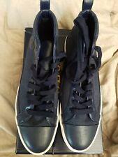 Polo Ralph Lauren high top tennis shoes, Clarke Navy blue, New in Box! Size 13D.