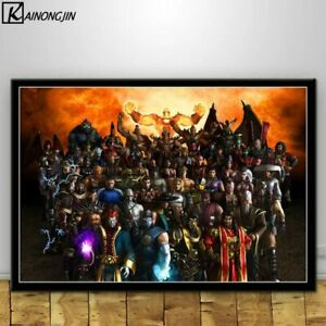 Mortal Kombat Poster Scorpion Fighting Game Posters Wall Decor Poster , no Frame
