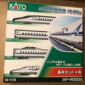 """KATO 10-1174 JR Series """"NOZOMI"""" N700A Shinkansen 4 Cars Set N scale Model JAPAN"""