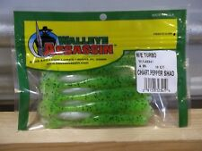 """Walleye Assassin 4"""" Turbo Chartreuse Pepper Shad 10 count package NIP"""