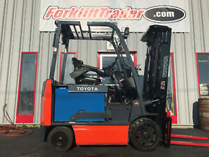 2012 TOYOTA 8FBCU32 6500LB CUSHION TIRE ELECTRIC FREE FREIGHT TO LOWER 48 STATES