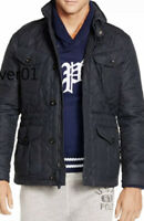 $498 Polo Ralph Lauren Large Navy Blue Jacket Wax Utility Sport RRL RLX Coat