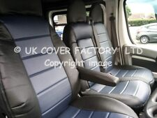 EXTRA PADDED FORD TRANSIT 2001-2012 VAN SEAT COVER BLUE PVC LEATHER X120BUBK