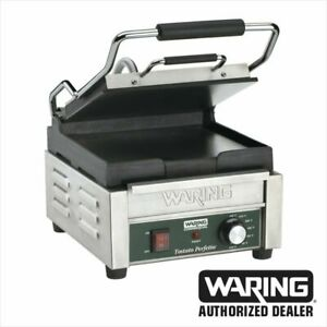Waring WFG150 Compact Italian Style Flat Panini Grill 120 Volt