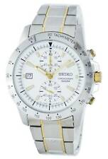 New Seiko watch Chronograph Quartz Tachymeter SNN189 43mm w/ box & warranty card