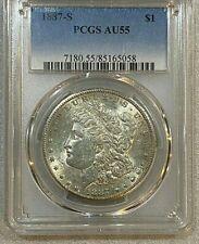 1887 s Morgan Silver Dollar PCGS Au 55  ~ Nice Specimen for better date ~ (058)