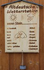 1 Altdeutsche Wetterstation aus Natur Schiefer 27x18 cm Graviert Lackiert />313/<