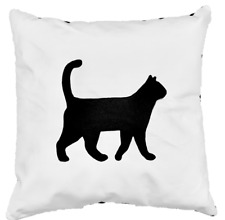 Full Grain Leather Cat Pillow Cover Only Or With Cushion Couch Decorative Accent