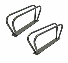 2 x Bicycle Bike Cycle Storage Stand Bracket Upright Wall Mounted Mountable Rack