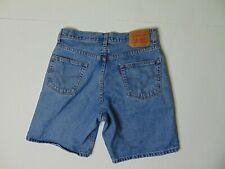 Levis 550 Men 31 Relaxed Fit Jean Shorts Blue Denim Light Wash Red Tab Cotton