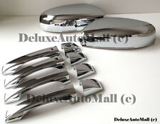 TOP-HALF Chrome Mirror Covers + Door Handles Compatible with Chrysler 300