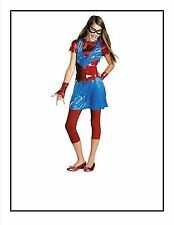 Girls M 7 8 Spider Girl Daughter of Spider Man Costume Dress Leggings, more New