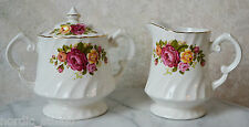 COTTAGE ROSE  Covered Sugar Bowl and Creamer by Wood & Sons, England