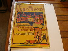 The JITNEY PLAYERS automobile theatre G. Holden 1920's HARVARD  POSTER