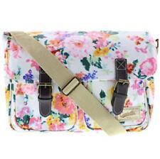 Flowers Satchel Oilcloth Cross Body Messenger Bag Shoulder School Bags Ladies