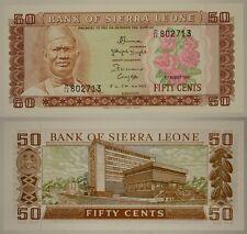 SIERRA LEONE 50 CENTS 4/08/1984 PICK #4 e  #B1460