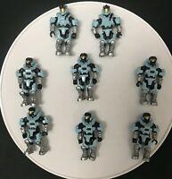 Mega Bloks Construx Halo blue spartan 8 action loose figures toy DIY