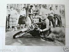 C TORSTEN HALLMAN HUSQVARNA WK 250  1962-63 MX CROSS VINTAGE POSTCARD MOTO 13-02