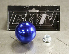 Blackworks Racing BWR 10x1.5 304 Stainless Weighted Ball Style Shift Knob Blue