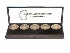 Lindner S2090 Münz-Etui für einen Satz 2 Euro-Gedenkmünzen Deutschland