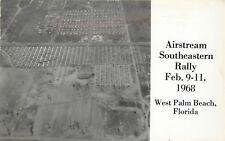 Postcard; Air View Airstream Trailer Southeastern Rally 1968 West Palm Beach FL