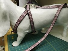 "DOG HARNESS medium 14""-21"" chest - BESPOKE STEP-IN HARNESS and LEAD."
