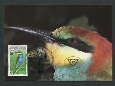 AUSTRIA MK 1988 WWF BIENENFRESSER VÖGEL BIRDS CARTE MAXIMUM CARD MC CM d4317