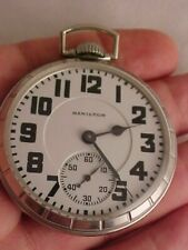 Hamilton 992B 21j Adj. 6 Pos. Railroad Watch - Minty Mov. & Dial - Keeping Time