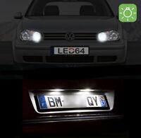 4 ampoules à LED Blanc veilleuses feux de plaque pour Volkswagen Golf 3 4 Polo 4