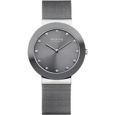 *BRAND NEW* Bering Women's Steel Bracelet and Case Grey Dial Watch 11435-389