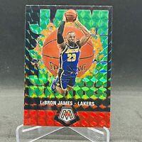 2019-20 Lebron James Lakers Green Jam Masters Panini Mosaic Card. Very Nice