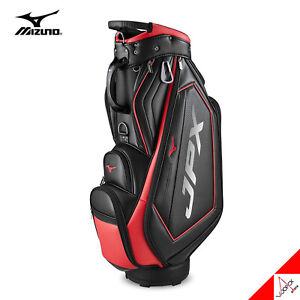 Mizuno 2021 JPX 006 Men's Golf Cart Caddie Bag 9.5inch 7lbs PU - Black/Red