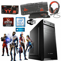 PC COMPUTER GAMING QUAD CORE i5 RAM 8GB SCHEDA VIDEO 4GB WI-FI WINDOWS 10