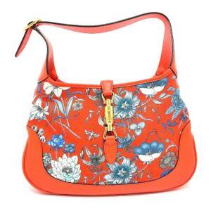 GUCCI 550152 Jackie Flora Hobo bag Japan limited Shoulder Bag Leather/Canvas