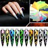 3D Nail Art Stickers Holographic Nail Foil Laser Transfer Decals Nail Decoration