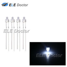 500pcs 2mm Diffused White-White Light DIP Round Top LED Diodes 16000Mcd
