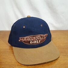 Dunlop Golf Blue & Brown Embroidered Logo Adjustable Cap Hat