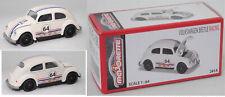 Majorette 212052017 VW Beetle / Käfer Standardlimousine Racing perlweiß 64, 1:64