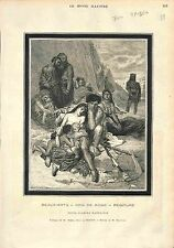 PEINTURE MOROT Aimé-Nicolas PRIX DE ROME 1873 ANTIQUE PRINT GRAVURE