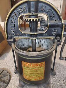8qt Enterprise Mfg Co Sausage Stuffer Fruit Lard Press Tube Plate Strainer No 35