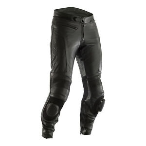 RST GT CE Approved Mens Motorcycle Motorbike Premium Leather Jean - Black 2019